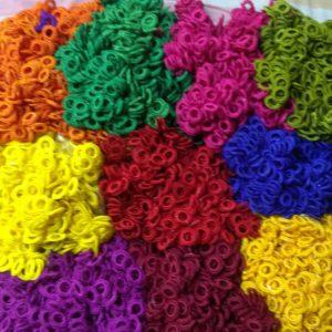 Crochet acrylic rings
